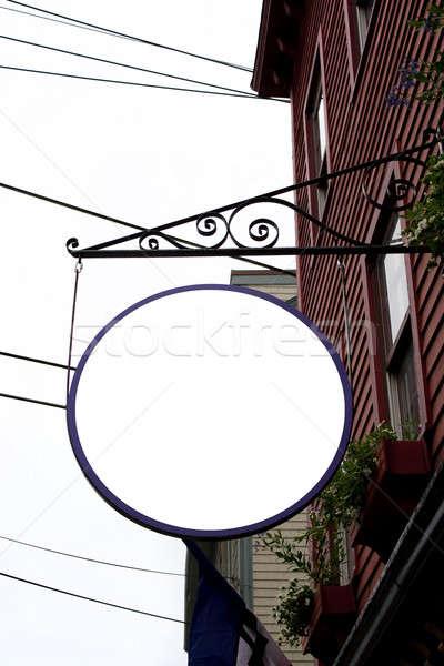 Impiccagione store segno fuori carattere Foto d'archivio © ArenaCreative
