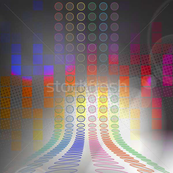 Grafikus audio hullámfoma hálózat absztrakt fekete Stock fotó © ArenaCreative