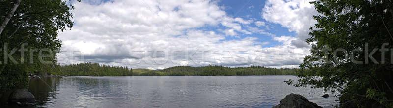 Alsó tó panoráma széles látószögű panorámakép kilátás Stock fotó © ArenaCreative