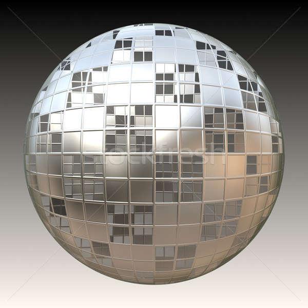 Stock photo: Chrome 3D Sphere