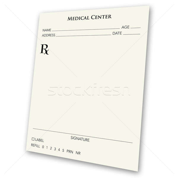 blank prescription pad Stock photo © ArenaCreative