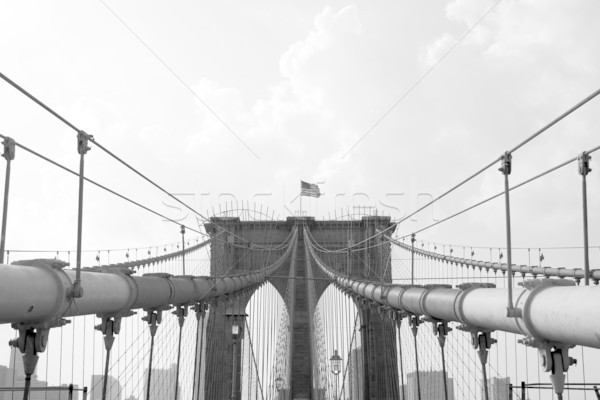 NYC Brooklyn Bridge Gate and Wires Stock photo © ArenaCreative