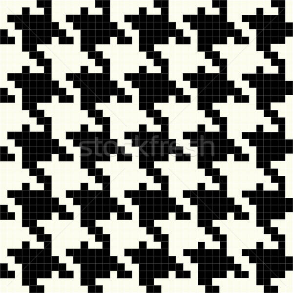 Black and White Vector Houndstooth Texture Stock photo © ArenaCreative