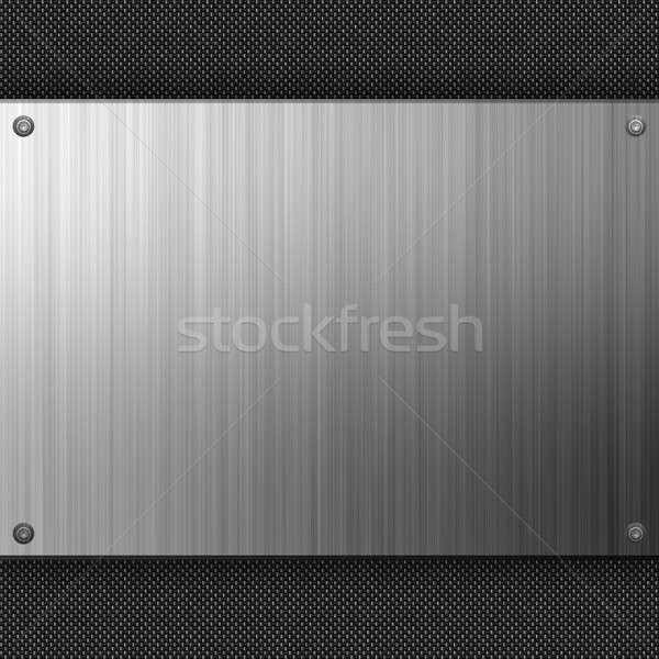 Stainless Steel Carbon Fiber Stock photo © ArenaCreative