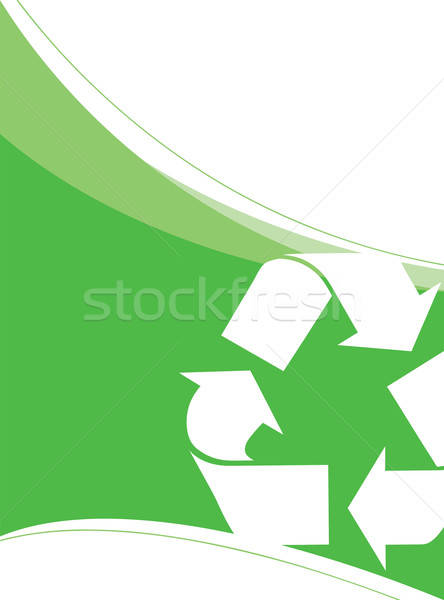 Recycling vector lay-out rond groot groene Stockfoto © ArenaCreative
