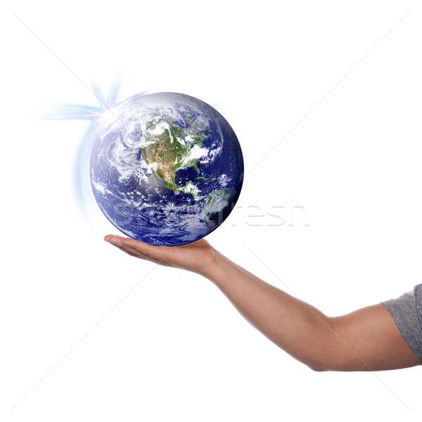 Mondo mano terra mondo immagine Foto d'archivio © ArenaCreative