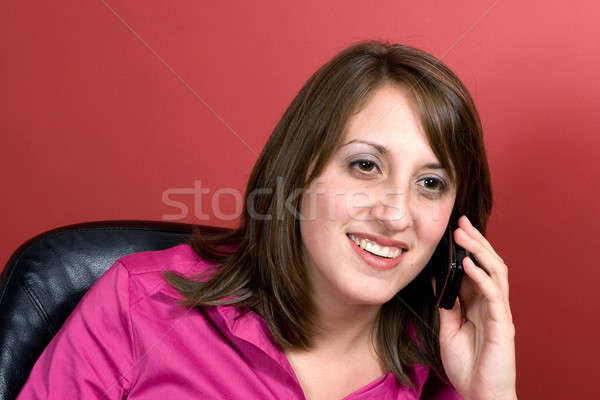 Business Woman Talks On Her Cell Phone Stock photo © ArenaCreative