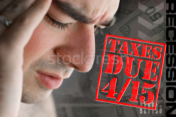 Stressed Over Taxes Due Stock photo © ArenaCreative