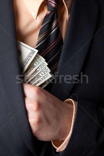 şirket hırsızlık iş el gizleme Stok fotoğraf © ArenaCreative