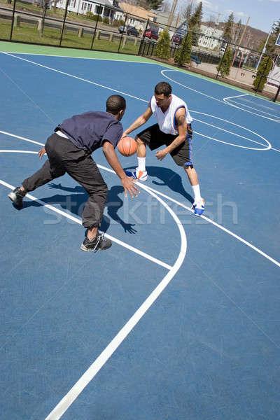 Men Playing Basketball Stock photo © ArenaCreative