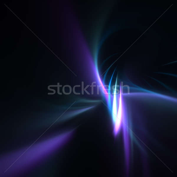 Blue Fractal Plasma Background Stock photo © ArenaCreative
