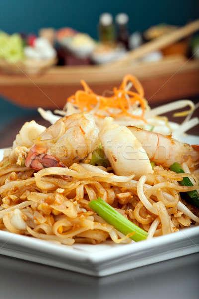 Сток-фото: морепродуктов · тайский · блюдо · жареный · риса