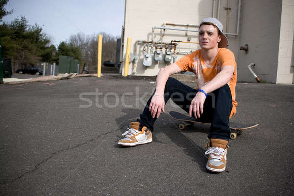 Skateboarder Resting Stock photo © ArenaCreative
