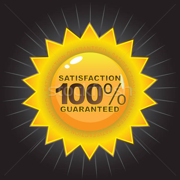 Satisfação garantido distintivo selar produto Foto stock © ArenaCreative