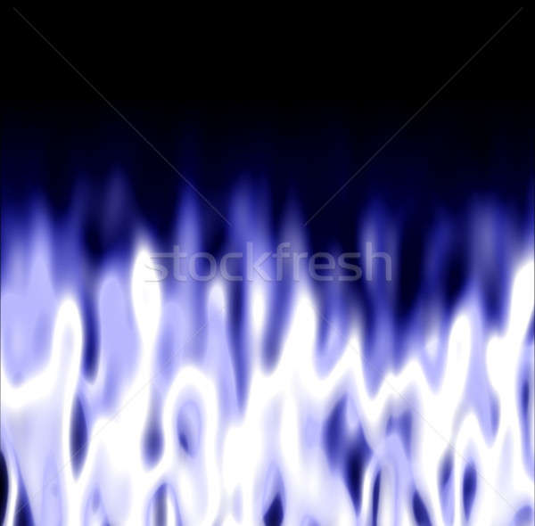 Icy Flames over black Stock photo © ArenaCreative
