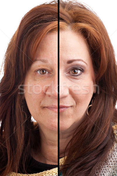Makeup Before and After Stock photo © ArenaCreative