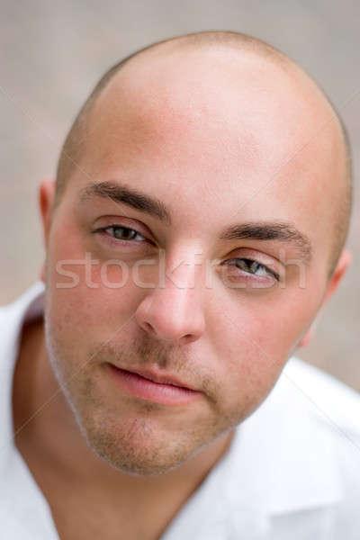 Giovane sincero guardare faccia uomo ritratto Foto d'archivio © ArenaCreative