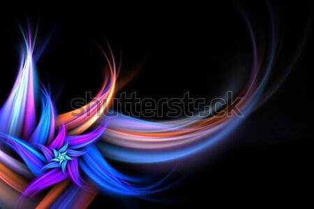 Abstrato fractal flor cópia espaço estilo projeto Foto stock © ArenaCreative