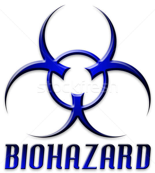 Beveled Red Biohazard Logo Stock photo © ArenaCreative