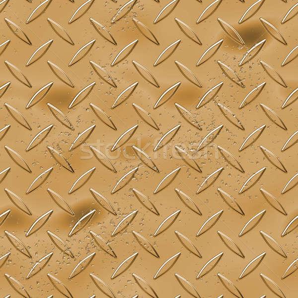 Arany gyémánt tányér textúra nagyszerű fém Stock fotó © ArenaCreative