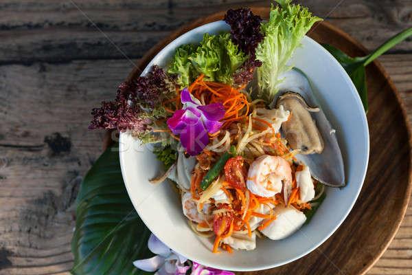 морепродуктов Салат традиционный блюдо подготовленный Сток-фото © arenacreative