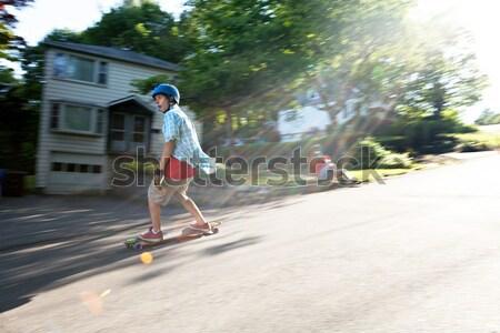 Longboarder Teen Stock photo © arenacreative