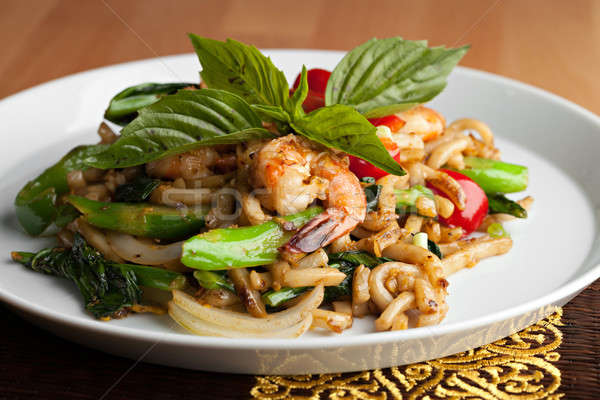 Stock photo: Thai Shrimp Stir Fry