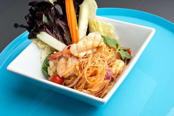 тайский Салат креветок морепродуктов Таиланд стиль Сток-фото © arenacreative