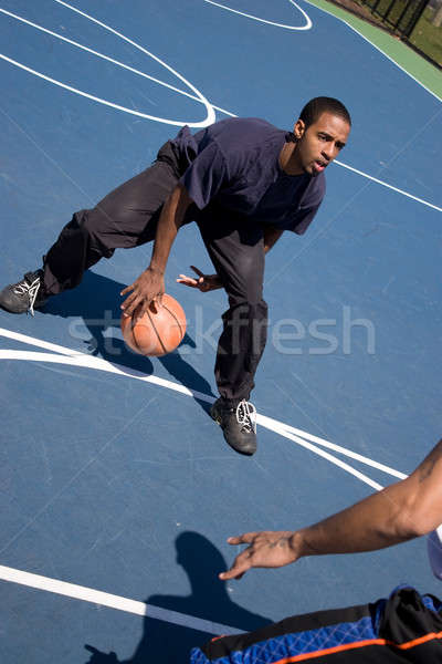 Stock photo: Guys Playing Basketball