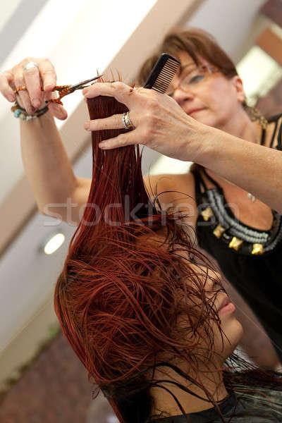 Stock photo: Haircut at the Salon
