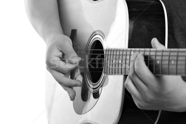 Electric Acoustic Guitarist Stock photo © ArenaCreative
