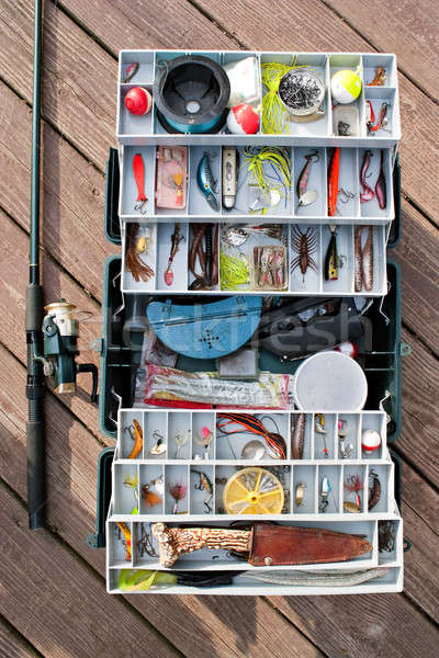Fishing Tackle Box and Gear Stock photo © ArenaCreative