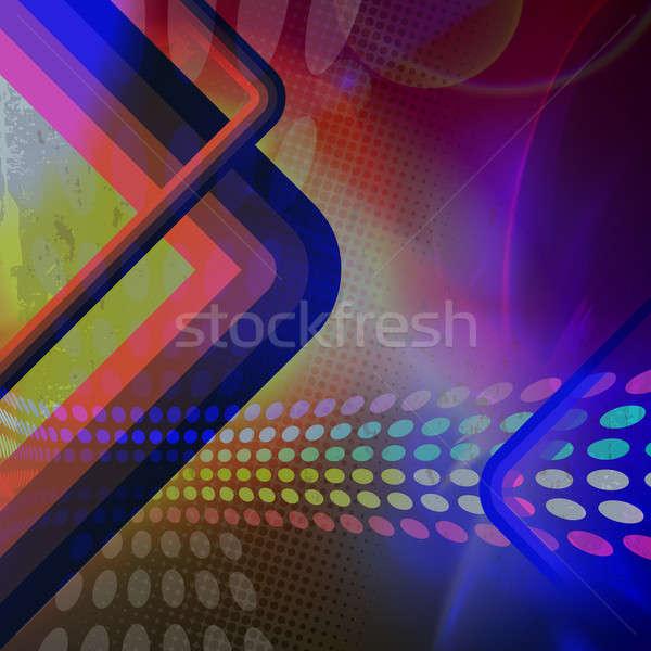 Funky ретро фон иллюстрация радуга цвета Сток-фото © ArenaCreative
