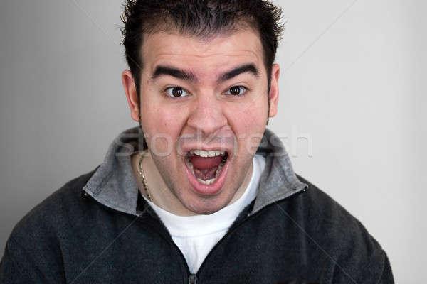 Crazy Man Screams Stock photo © ArenaCreative