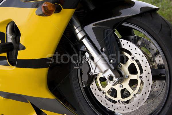 黄色 オートバイ クローズアップ 詳細 現代 パフォーマンス ストックフォト © ArenaCreative