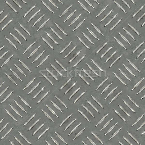 Fém gyémánt tányér fém textúra szép ipari Stock fotó © ArenaCreative
