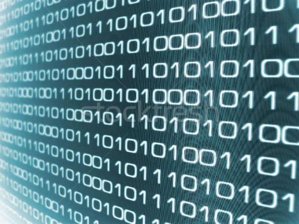 двоичный код интернет аннотация фон веб синий Сток-фото © ArenaCreative