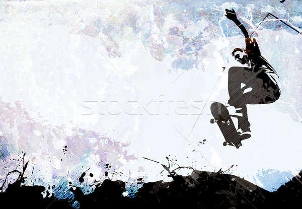 Skateboarding Grunge Layout Stock photo © ArenaCreative