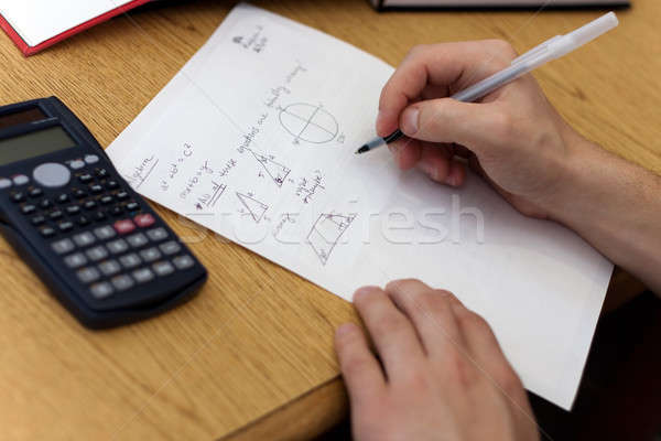 Math Homework Stock photo © ArenaCreative