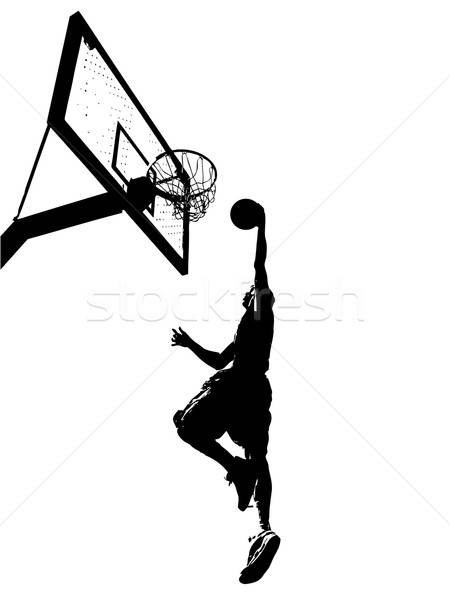 Slam Dunk Silhouette Stock photo © ArenaCreative