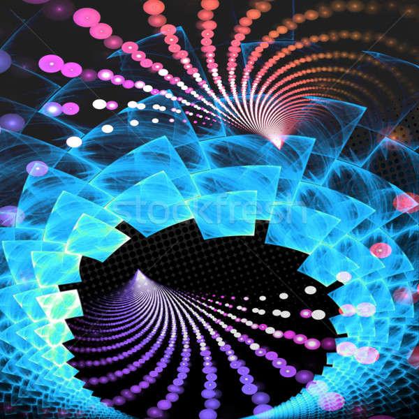 Abstract fractal lay-out draaikolk exemplaar ruimte stijl Stockfoto © ArenaCreative