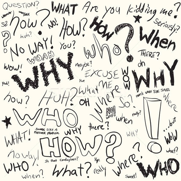 Question Doodles Stock photo © ArenaCreative