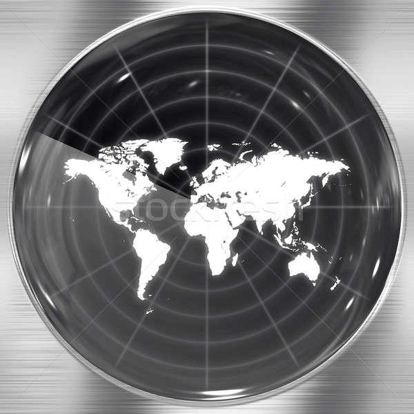 świat radar ekranu ilustracja puszka tle Zdjęcia stock © ArenaCreative