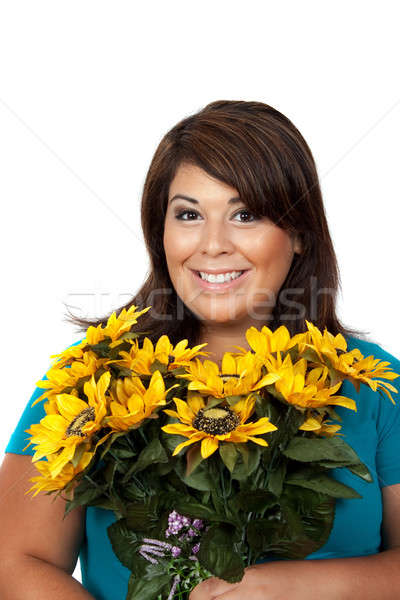 Woman With Flowers Stock photo © ArenaCreative