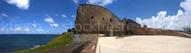форт широкоугольный панорамный мнение исторический укрепление Сток-фото © ArenaCreative