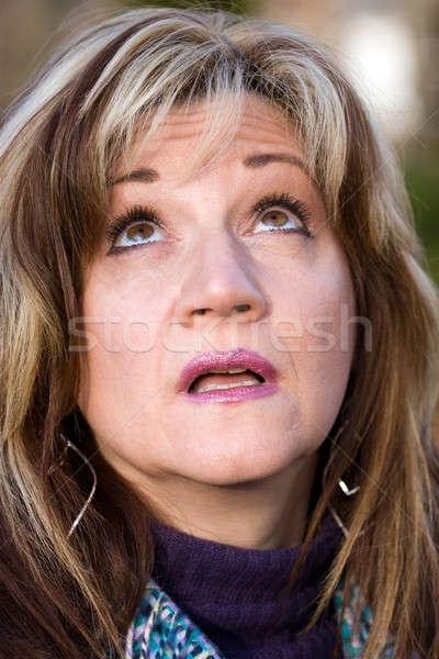 Woman Looking Up Stock photo © ArenaCreative