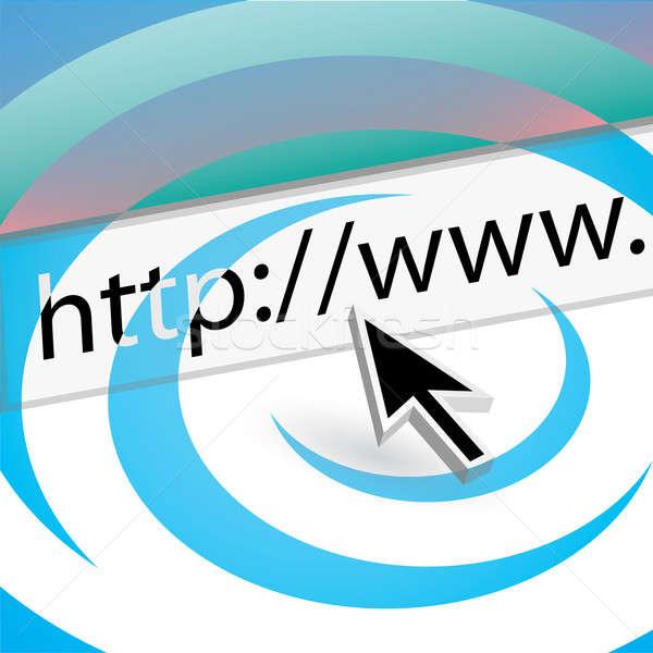 Keres háló egér nyíl mutat url Stock fotó © ArenaCreative
