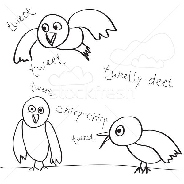 Bird Doodles Stock photo © ArenaCreative