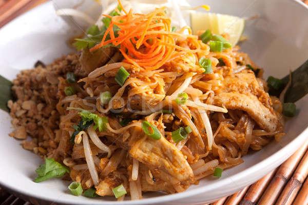 Stock photo: Chicken Pad Thai