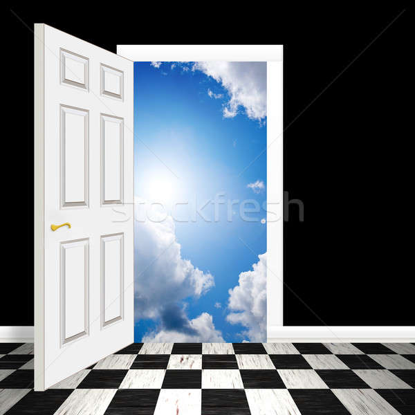 Surreal Heavenly Doorway Stock photo © ArenaCreative